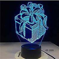 ギフト用の箱LEDナイトランプホリデー3DイリュージョンタッチセンサーHoomデコレーション子供キッズベビーナイトライトギフトボックスデスクランプ