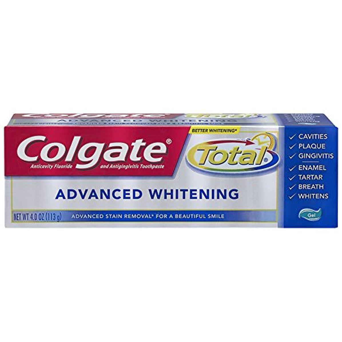最小化する分離する責任Colgate 総アドバンストホワイトニングジェル歯磨き - 4.0オンス(6パック)