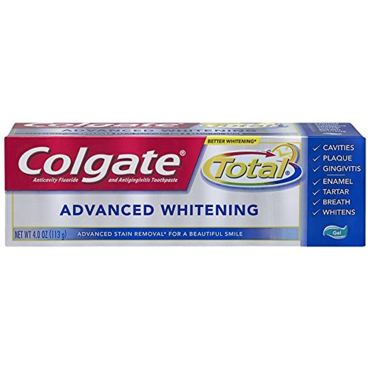 微生物焦がす第二Colgate 総アドバンストホワイトニングジェル歯磨き - 4.0オンス(6パック)