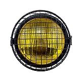 Ranzek ベーツライト 5.5インチ イエローレンズ ブラック ボディー カスタム 汎用 カーバー付属