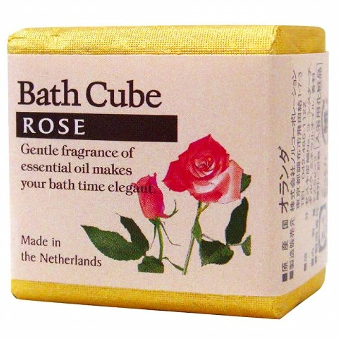 傾斜ゴールド倉庫フレグランスバスキューブ「ローズ」12個セット 華やかでロマンティックなローズの香り