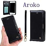 Best Aroko iPhoneのカバーで6ケース - iPhone 6Plusケース、Aroko本カウボーイレザーケース財布、スリムフィットフォリオブックカバー[ビジネスカードホルダー]フリップ財布ケースwithスタンド機能for iphone6splus iphone6Plus/6SPlus 5.5inch Review