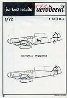 aerodecal 1: 72チェコ国立Insignias転写シート# 16ax
