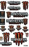 モンスターエナジー MONSTER ENERGY ステッカー セット Sticker Set レッド Red TS-12R