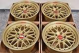 【中古】【ホイール4本セット 17インチ】BBS LM F1 9.0J +20 スカイライン GT-R ゴールド F1ワールドチャンピオンモデル 限定品 鍛造 17in【F-S0127A35SPfh】