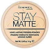 [Rimmel ] リンメルステイマットプレストパウダー透明1 - Rimmel Stay Matte Pressed Powder Transparent 1 [並行輸入品]