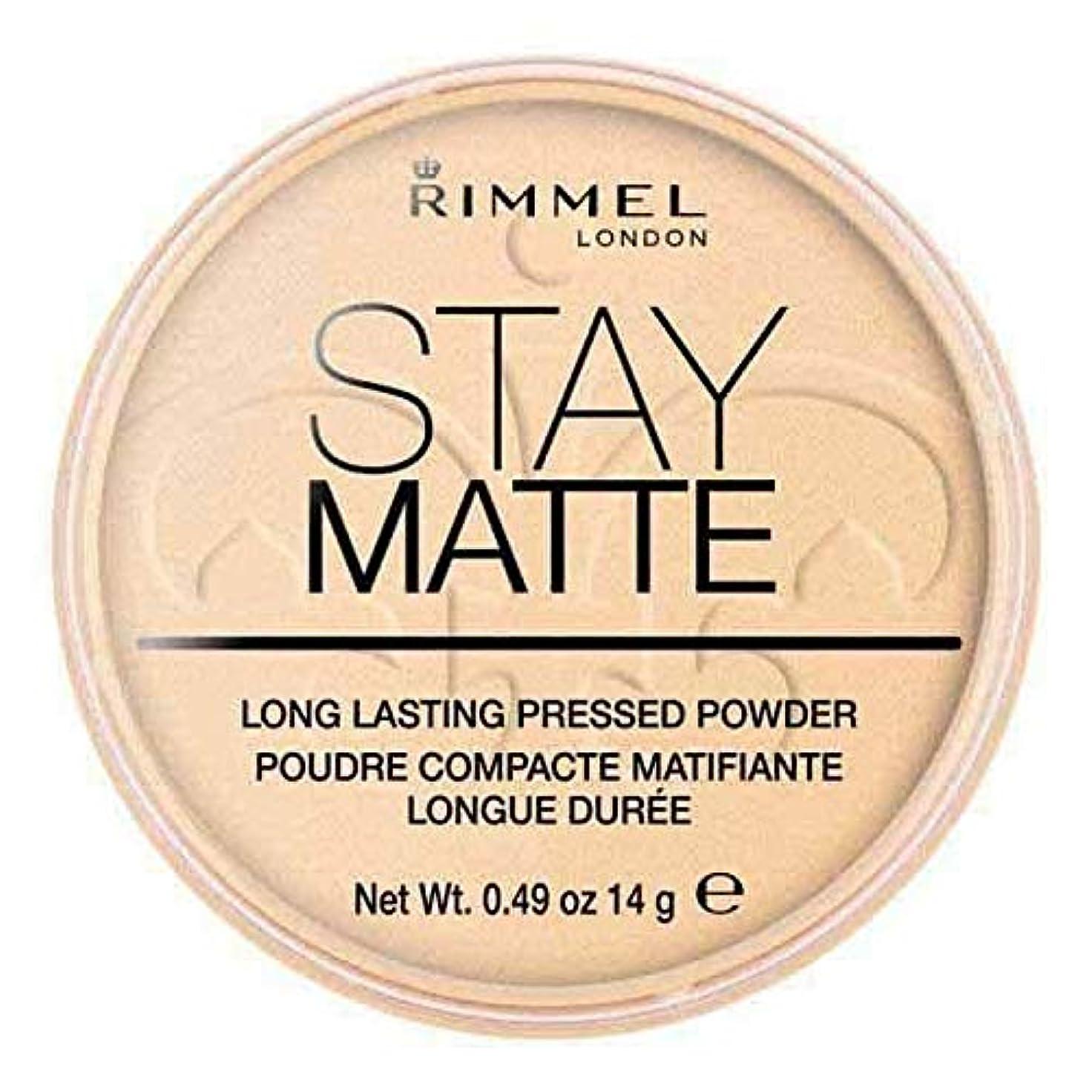 なめるとは異なりファックス[Rimmel ] リンメルステイマットプレストパウダー透明1 - Rimmel Stay Matte Pressed Powder Transparent 1 [並行輸入品]