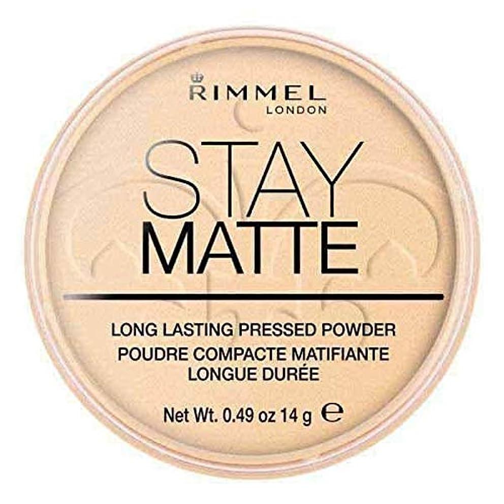 ピッチャー省保存する[Rimmel ] リンメルステイマットプレストパウダー透明1 - Rimmel Stay Matte Pressed Powder Transparent 1 [並行輸入品]