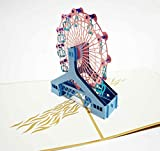 Happiest 誕生日 バースデー [ 立体 ] お祝い ホビー グリーティングカード 3D ポップアップ メッセージカード (観覧車)