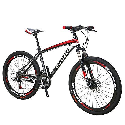 Extrbici 688 マウンテンバイク MTB 21段変速 アルミフレーム 26インチ軽量 アップグレード (赤)