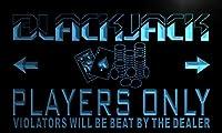LED看板 ネオンプレート サイン 電飾・店舗看板・標識・サイン カフェ バー ADV PRO n138-b Black Jacks Player Only Neon Light Sign