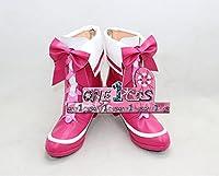 【サイズ選択可】コスプレ靴 ブーツ 11L0912 プリキュアシリーズ スイートプリキュア♪ 北条響 キュアメロディ 男性28CM