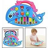 Itian ドラム おもちゃ 赤ちゃん 多機能 電子ピアノ 小型電子キーボード 知育おもちゃ 音楽玩具 プレゼントに最適