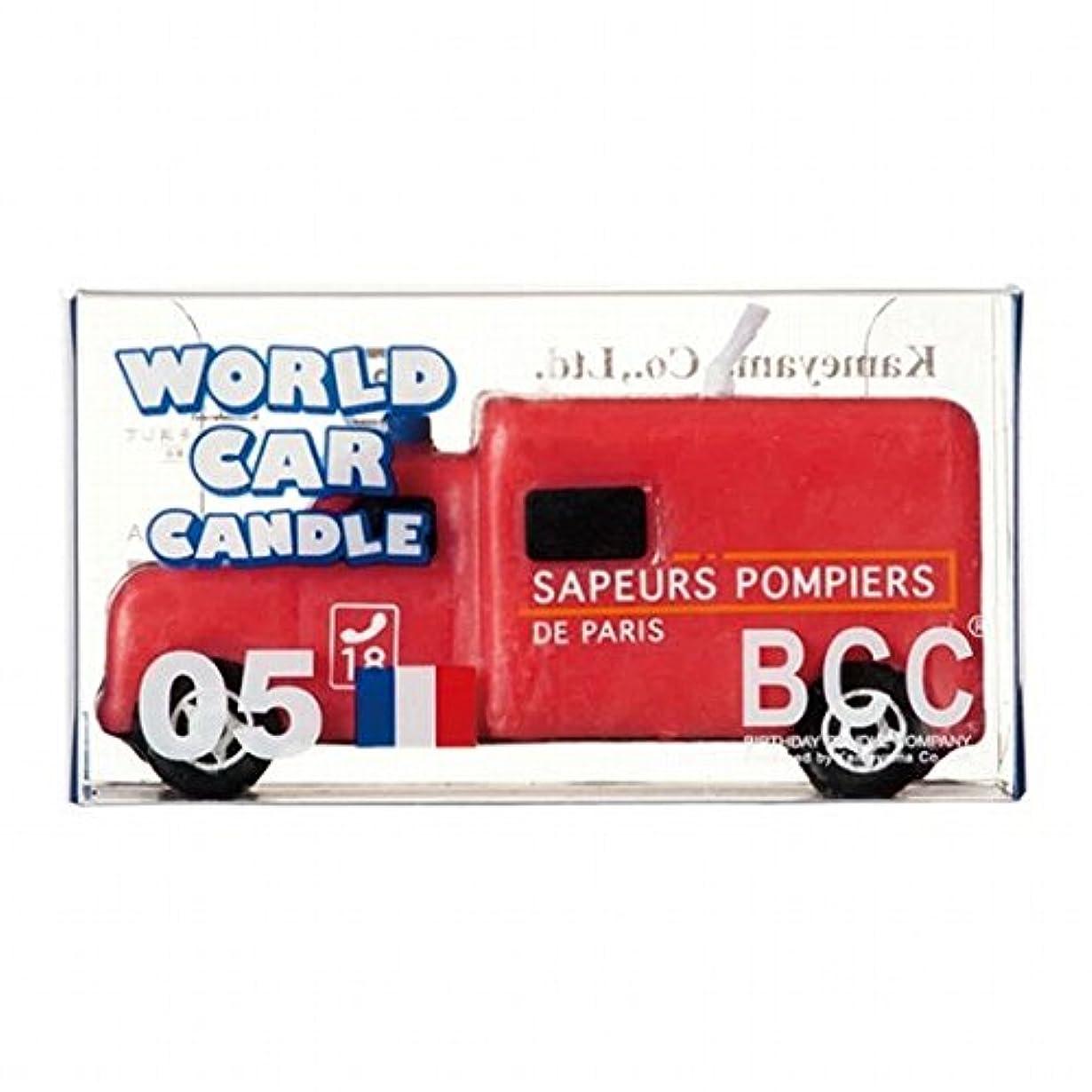と闘うはねかける持つカメヤマキャンドル(kameyama candle) ワールドカーキャンドル消防車(フランス)