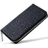 アイコス ケース レザー 長財布型 2.4 対応 オールインワン 本体 収納可能 (ブラック)