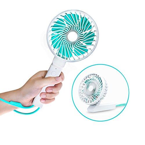 携帯扇風機 ミニ扇風機 ロープつき 小型 扇風機 長時間利用...