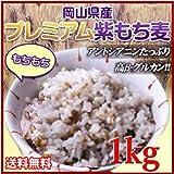 30年産岡山県産プレミアム極小粒紫もち麦 (1kg)