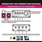 電源不要 極小サイズのヘッドフォン イヤフォン、MP3 ミニオーディオスイッチャー/セレクター for スマートフォン