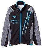 [ミズノ] トレーニングウェア N-XT ウォームアップシャツ [ジュニア] 32JC8417 ボーイズ ブラック×グレー杢 日本 150 (日本サイズ150 相当)