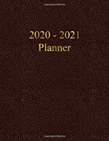 2020 - 2021 Planner: Academic and Student Daily and Monthly Planner - July 2020 - June 2021 - Organizer & Diary - To do list - Notes - Month's Focus -  Elegant Leather with Gold lettering