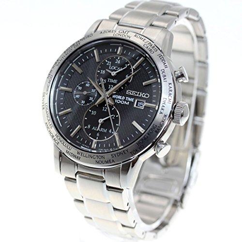 SEIKO セイコー GMT ワールドタイム クオーツ メンズ 腕時計 SPL049PC