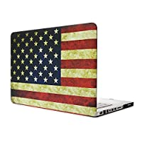 MacBook Air 13ケース、L2W MacBook Air 13インチスリーブハードシェルMacBook Air 13.3用保護コブモデル:A1369 / A1466(米国の旗のデザイン)