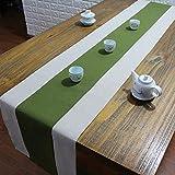 テーブルランナー ホームデコレーション 北欧 スタイル シンプル 工芸品 長方形 エレガント お茶会 ディナーパーティー 家庭用 キッチン (Color : Green, Size : 30*150cm)