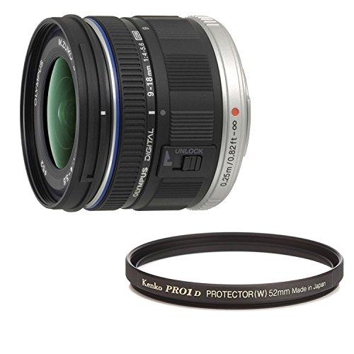 OLYMPUS 超広角ズームレンズ M.ZUIKO DIGITAL ED 9-18mm F4.0-5.6 + Kenko レンズフィルター PRO1D プロテクター (W) 52mm レンズ保護用 252512 セット