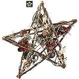 ナチュラルウッドデコレーションライト クリスマス ライトアップ 電飾 ウッドスター