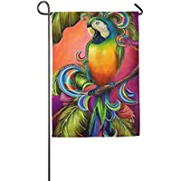 DFGTLY Fashion Personalized Garden Flag,Beautiful Parrot Garden Flag-12