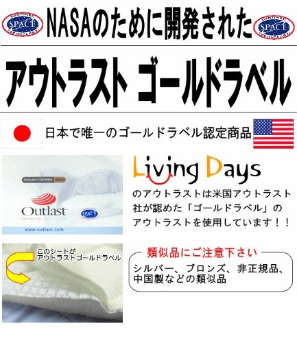 アウトラスト 枕カバー 2枚組 日本製 ゴールドラベル(ブルー)