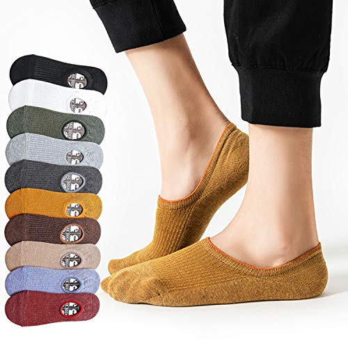 BECASO(ビーカソ) 靴下 メンズ フットカバー くるぶしソックス くるぶし靴下 10足セット 浅履き 脱げない 綿 24-28cm