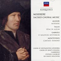 Miserere: Sacred Choral Music by KINGS COLLEGE / WESTMINSTER COLLEGE CHOIR (2008-08-26)