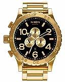 NIXON(ニクソン) 腕時計 51-30 A083-510 クロノ オールゴールド ブラック メンズ A083510 [並行輸入品]