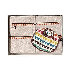 BOBO ギフトセット 身長計付きタオルケット+タオルビブ小 18141027