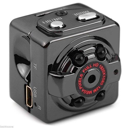 Xmony SQ8 超小型 フル HD 1080P 暗視機能 サイクル録画1280*720P 動体検...