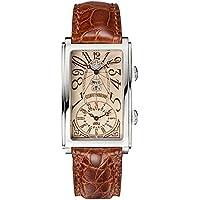 クエルボ・イ・ソブリノス プロミネンテ デュアルタイム デイデイト 1124-1ACG アイボリー メンズ 腕時計