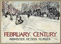 2月世紀–Midwinter Fiction数ヴィンテージポスター(アーティスト: Shinn ) USA C。1899 24 x 36 Giclee Print LANT-74205-24x36