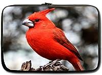 """冬Cardinal Birdsインチノートパソコンネットブックノートブックスリップケーススリーブソフトケースカバー15"""" (ツインSidess)"""