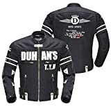 nakasami DUHANバイクジャケット メンズ 春 夏 秋 ライダースジャケット バイクウェア 3シーズン ナイロンジャケット バイク ジャケット ブラックXXL