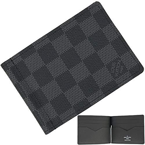 3e8c251441d6 [ルイヴィトン] ポルトフォイユ・パンス ダミエグラフィット ダミエキャンバス × レザー N61000 ブラック
