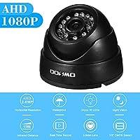 OWSOO AHDドームアナログカメラ 1080P 200万画素 防水仕様 3.6mm 1/3 '' CMOS IRカット IR Led24pcs ナイトビジョン 屋内屋外 NTSCシステム