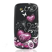 i-Beans【全13柄】Docomo Samsung Galaxy S III TPUケース SC-06D カバー ギャラクシーS3用ケースカバー ハート+蝶 i9300ケース  Galaxy S3 / SC-06D Case (7469-8)