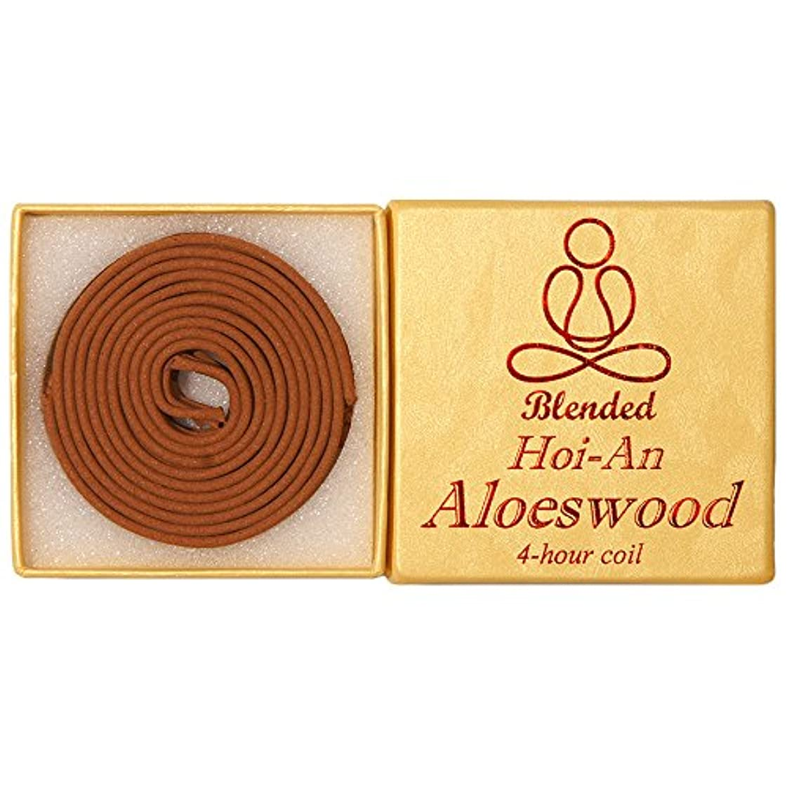 南西中間習慣Blended Hoi-An Aloeswood - 12 pieces 4-hour Coil - 100% natural - GHC152T