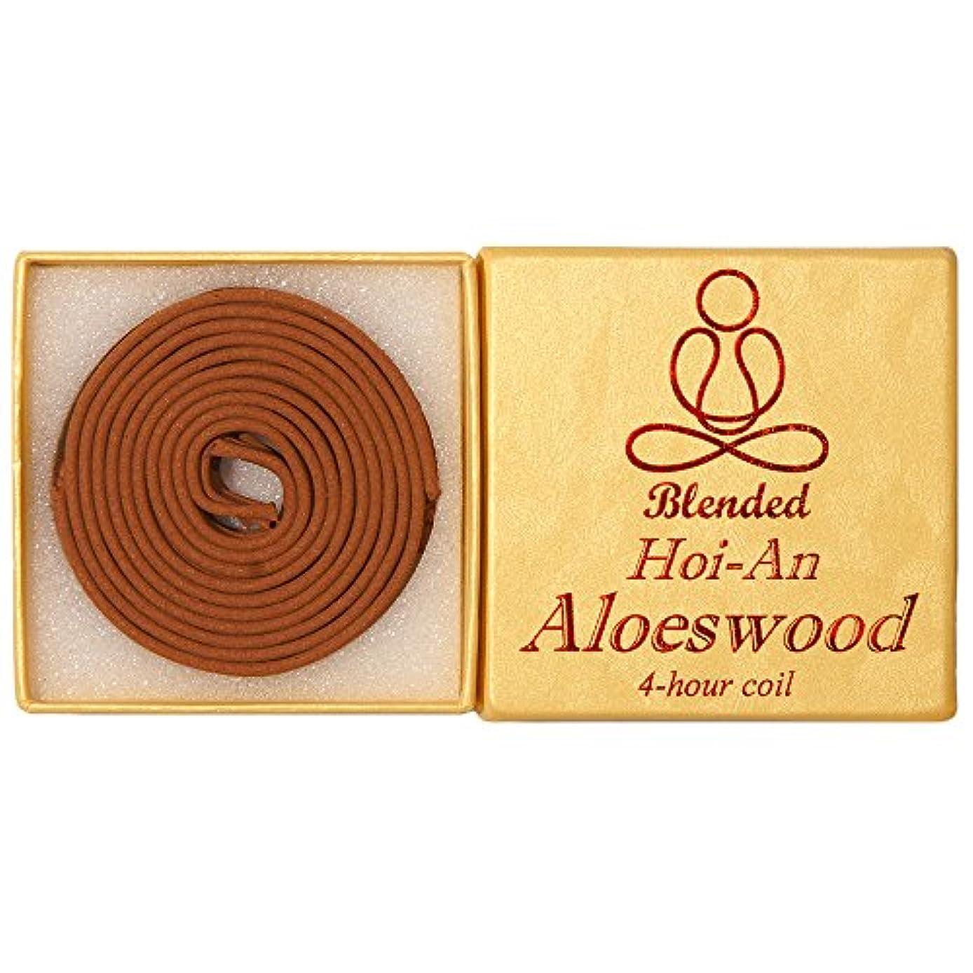 分離パトロール小競り合いBlended Hoi-An Aloeswood - 12 pieces 4-hour Coil - 100% natural - GHC152T