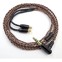 PCCITY ATH-CKR100 ATH-CKR90 ATH-CKS1100 ATH-LS400 ATH-LS300 ATH-LS200 ATH-LS70 ATH-LS50 ATH-E40 ATH-E50 ATH-E70 ヘッドホン 対応用 ケーブル ヘッドフォン リケーブル ブラウン