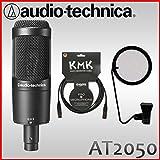 audio-technica コンデンサーマイクセット AT2050(KLOTZマイクケーブル&ポップガードセット)