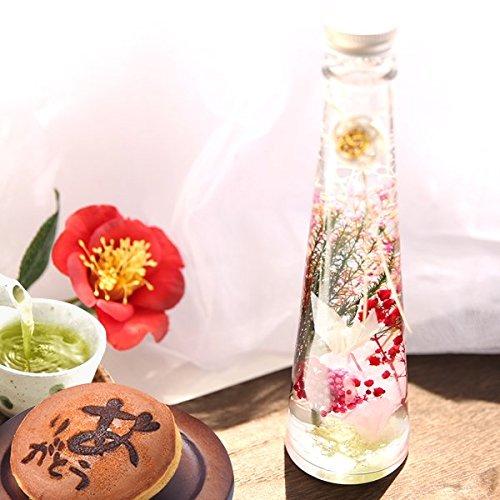 誕生日 プレゼント ハーバリウム 美鶴 花とスイーツセット (Lサイズ・白鶴)