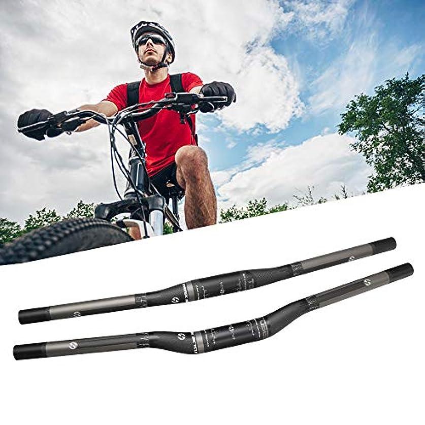 ゲート式香りRakuby 31.8mm 超軽量 3Kマットカーボンファイバー 自転車ハンドル バー マウンテン バイクカーボンハンドル バー 600mm-720mmフラットバー/ライザーバー