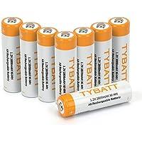 【TYBATT】単3形 8本パック 充電電池 1.2V 2800mAh ニッケル水素 AA充電式電池 収納ケース2個付 約1200回使用可能
